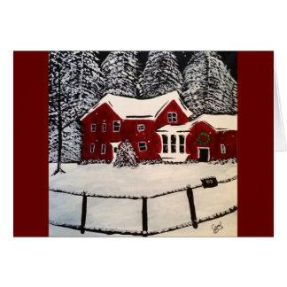 Tarjeta del día de fiesta de la casa Nevado