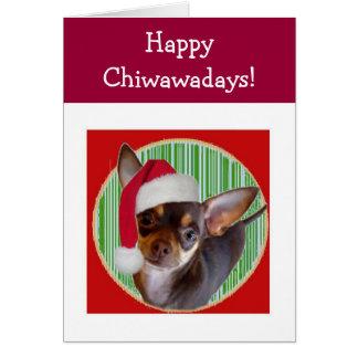 Tarjeta del día de fiesta de la chihuahua