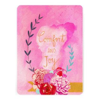 tarjeta del día de fiesta de la comodidad y de la anuncio