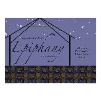 Tarjeta del día de fiesta de la epifanía invitación