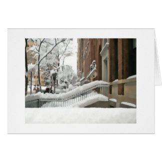Tarjeta del día de fiesta de la escena de la nieve