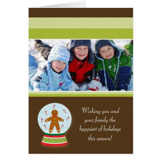 Tarjeta del día de fiesta de la familia de Snowglo