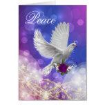 Tarjeta del día de fiesta de la paloma de la paz