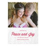 Tarjeta del día de fiesta de la paz y de la alegrí invitaciones personalizada