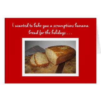 Tarjeta del día de fiesta de la receta del pan de