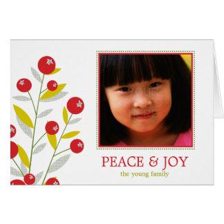 Tarjeta del día de fiesta de las Felices Navidad d