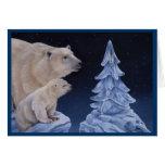Tarjeta del día de fiesta de los osos polares