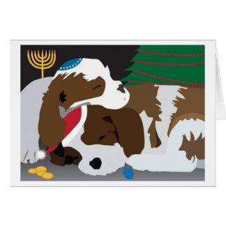Tarjeta del día de fiesta de los perritos