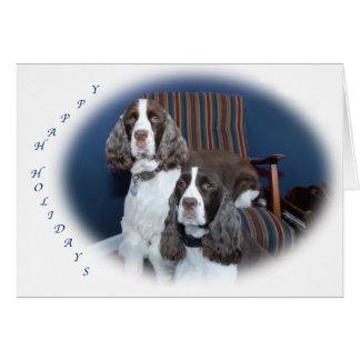 Tarjeta del día de fiesta de los perros de aguas d