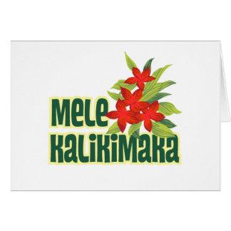 Tarjeta del día de fiesta de Mele Kalikimaka