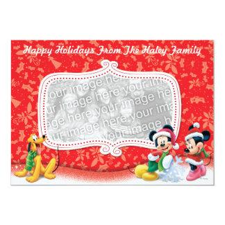 """Tarjeta del día de fiesta de Mickey y de los Invitación 5"""" X 7"""""""
