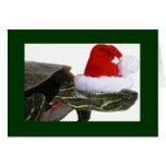 Tarjeta del día de fiesta de Santa de la tortuga
