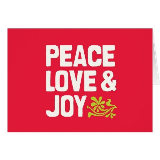 Tarjeta del día de fiesta del amor y de la alegría
