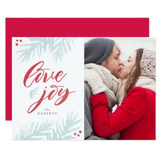 """Tarjeta del día de fiesta del amor y de la alegría invitación 5"""" x 7"""""""