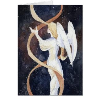 Tarjeta del día de fiesta del ángel del gen