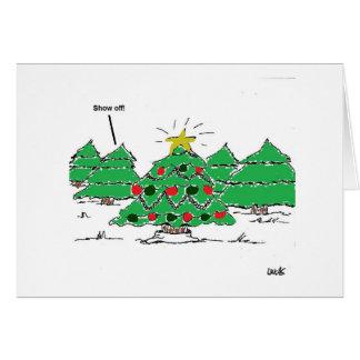 Tarjeta del día de fiesta del árbol de navidad