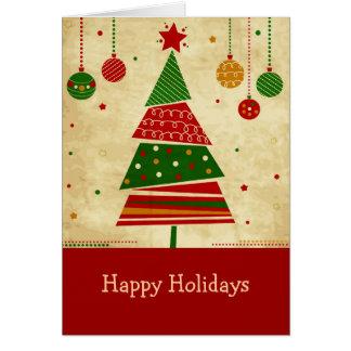 Tarjeta del día de fiesta del árbol de navidad del