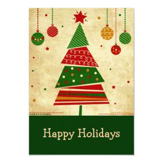 Tarjeta del día de fiesta del árbol de navidad del invitación 12,7 x 17,8 cm