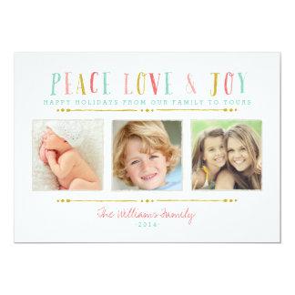 Tarjeta del día de fiesta del collage de la foto invitación 12,7 x 17,8 cm