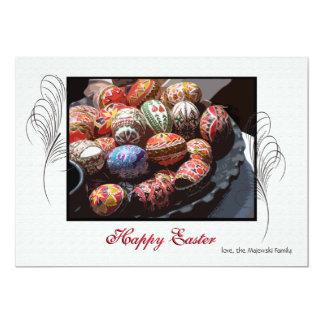Tarjeta del día de fiesta del disco del huevo de invitación 12,7 x 17,8 cm