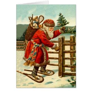 Tarjeta del día de fiesta del navidad de Snowshoei