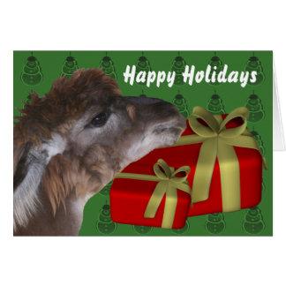 Tarjeta del día de fiesta del navidad del animal d