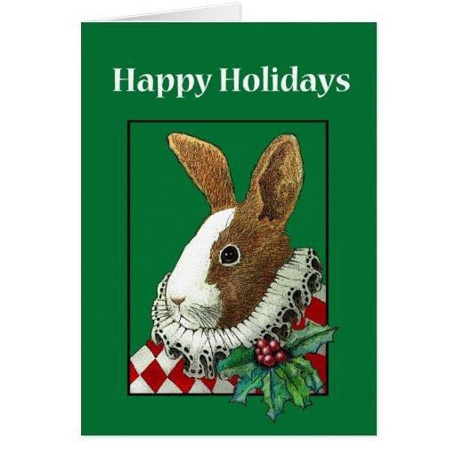 Tarjeta del día de fiesta del navidad del conejo d