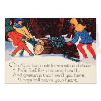 Tarjeta del día de fiesta del navidad del vintage