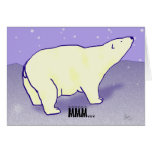 Tarjeta del día de fiesta del oso polar