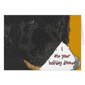 Tarjeta del día de fiesta del perro de Terranova