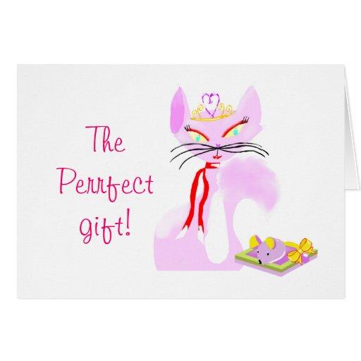 tarjeta del día de fiesta del regalo del ratón del