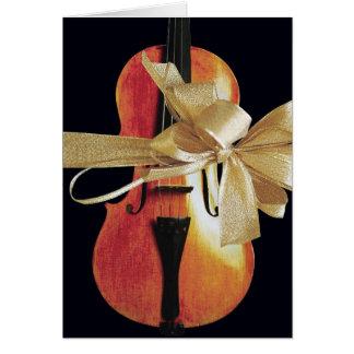 Tarjeta del día de fiesta del violín