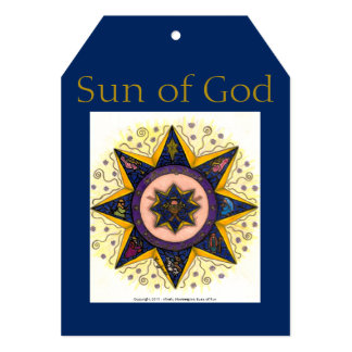 """Tarjeta del día de fiesta - Sun de dios Invitación 5"""" X 7"""""""