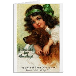 Tarjeta del día de Irish Setter St Patrick del Vic