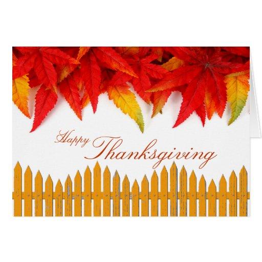Tarjeta del día de la acción de gracias