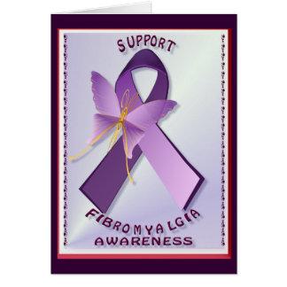 Tarjeta del día de la conciencia del Fibromyalgia
