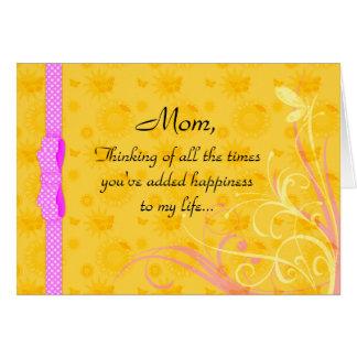Tarjeta del día de la mamá y de madre de la felici