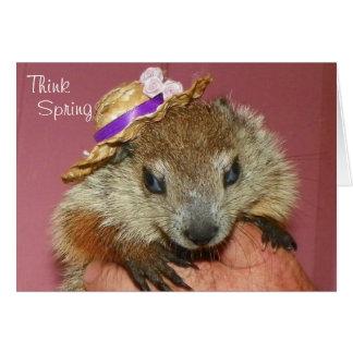 Tarjeta del día de la marmota de Clara