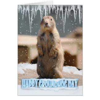 Tarjeta del día de la marmota, día de la marmota f