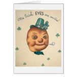 Tarjeta del día de la patata del vintage de St Pat