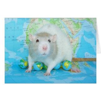 Tarjeta del día de la rata del mundo
