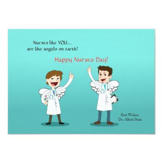 """Tarjeta del día de las enfermeras de los ángeles invitación 5"""" x 7"""""""