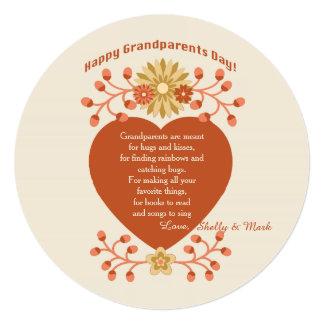 """Tarjeta del día de los abuelos del amor de los invitación 5.25"""" x 5.25"""""""
