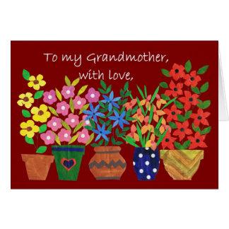 Tarjeta del día de los abuelos para la abuela
