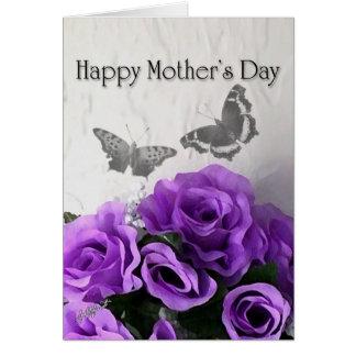 Tarjeta del día de madre (color de rosa púrpura y
