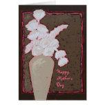 tarjeta del día de madre con las flores