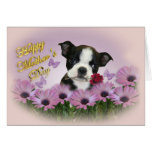 Tarjeta del día de madre de Boston Terrier