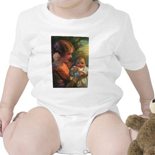 Tarjeta del día de madre de la madre y del bebé camisetas