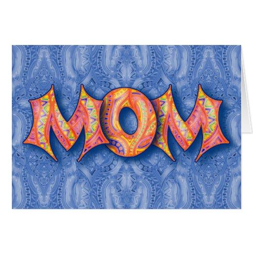 Tarjeta del día de madre de la MAMÁ del arco iris
