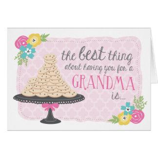 Tarjeta del día de madre de las galletas y de los